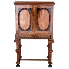 Bar Walnut Empire Style Cabinet from circa 1870