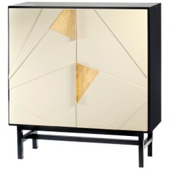 Bar Cabinet Jazz in Lacquered Wood and Brass