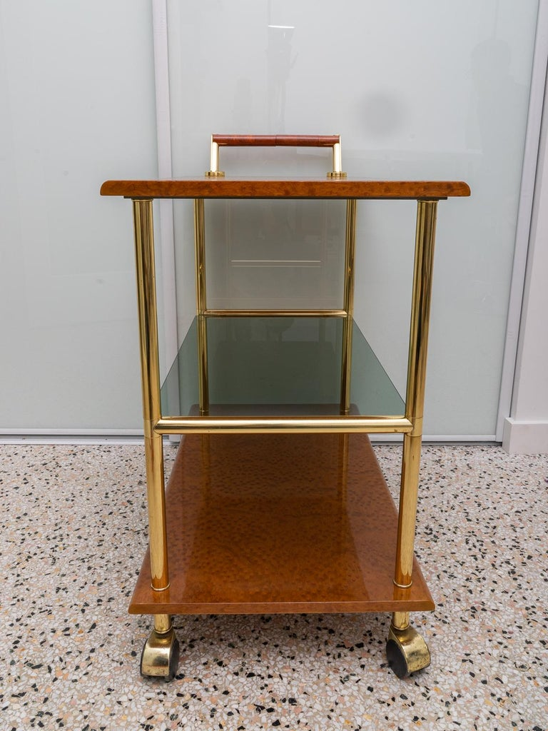 Hand-Crafted Bar Cart For Sale