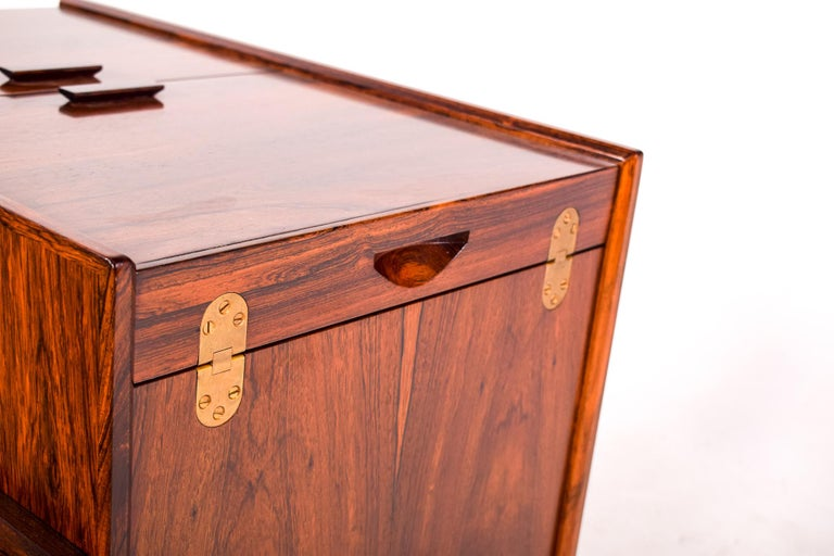 Bar Cart Trolley by Andreas Hansen in Rosewood, 1960s In Good Condition For Sale In Lisboa, Lisboa