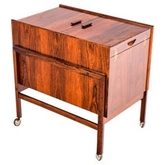 Bar Cart Trolley by Andreas Hansen in Rosewood, 1960s