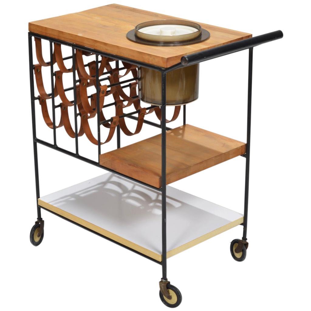 Bar Cart with Wine Rack by Arthur Umanoff