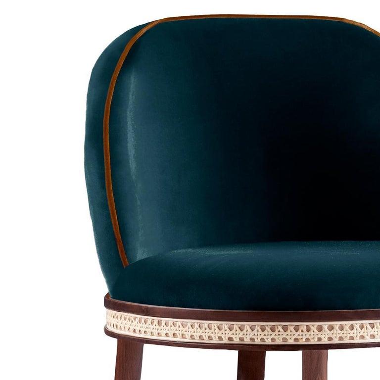Modern Bar Chair, Alma by Dooq For Sale