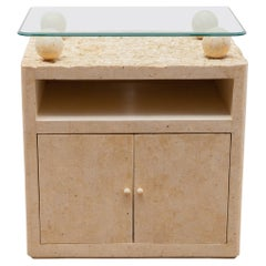 Bar Furniture Small Sideboard in Faux Marble, Italy, 1980s