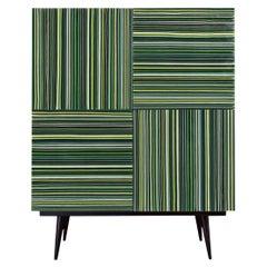Bar Green Hues Multi-Color Barcode Glass Doors by Orfeo Quagliata