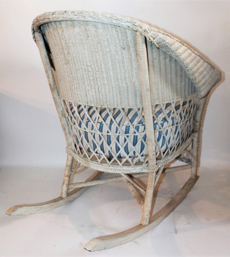 Bar Harbor Vintage Wicker Rocking Chair At 1stdibs