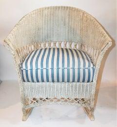 Bar Harbor Vintage Wicker Rocking Chair