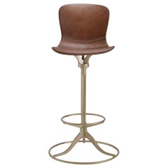 Bar Height Swivel Chair with Footrest Ring, by P. Tendercool