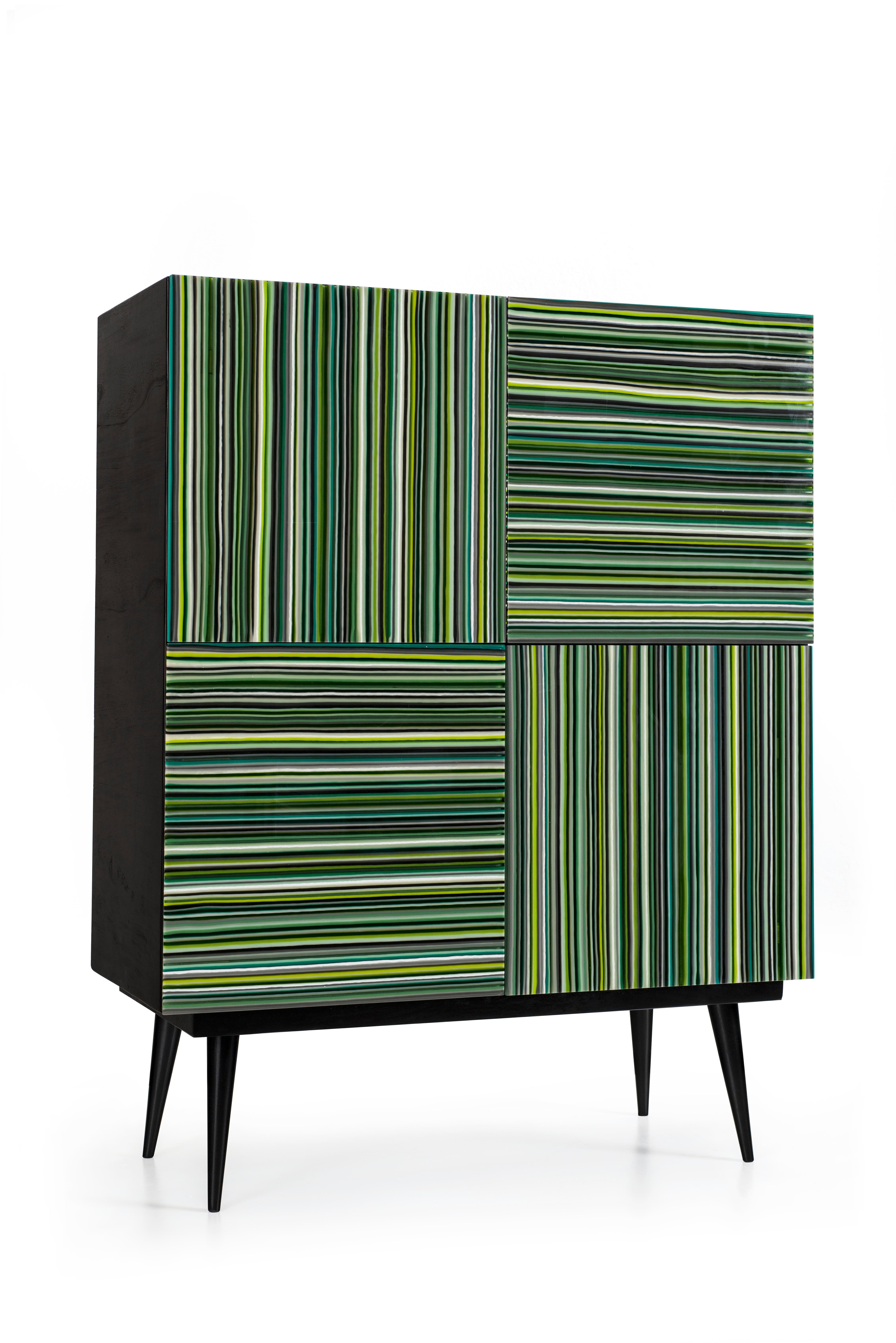 Bar Mint Multi Color Glass Doors By Orfeo Quagliata