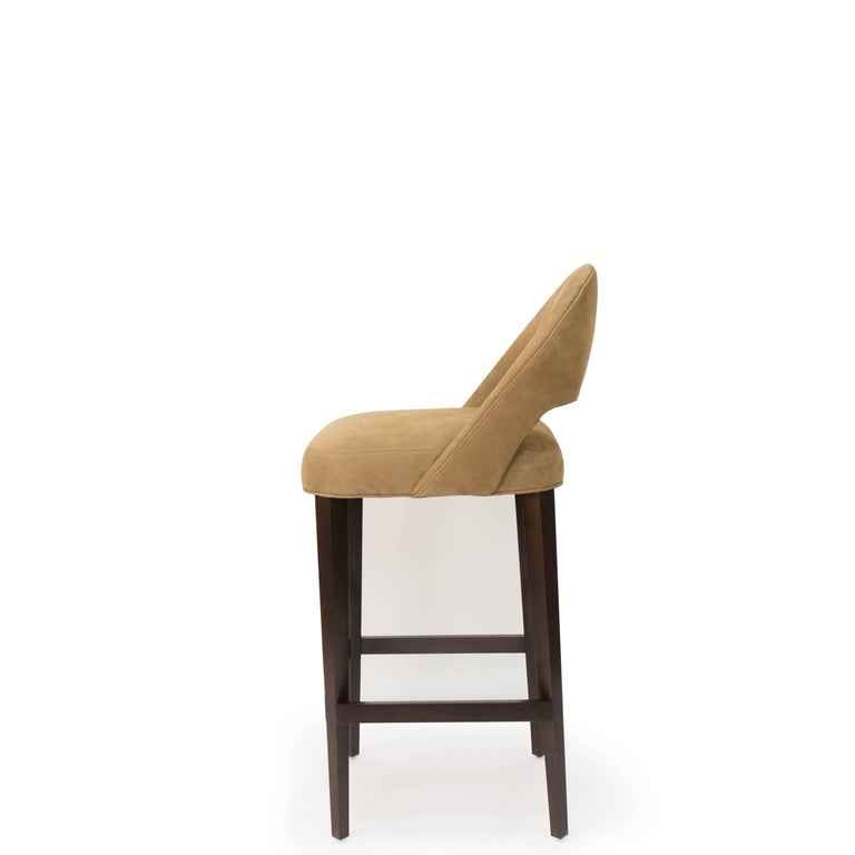 Bar Or Counter Stool With Bucket Seat Modern Art Deco