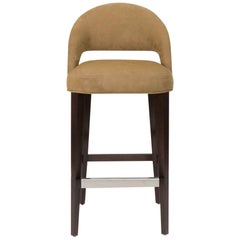 Bar or Counter Stool with Bucket Seat, Modern, Art Deco