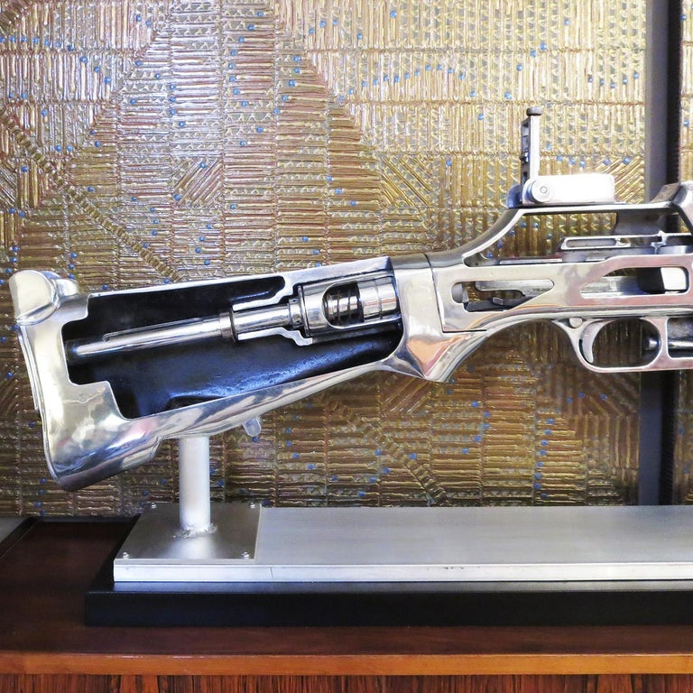 Mid-Century Modern Bar Rifle Oversized Training Display Model For Sale