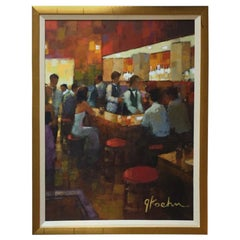 """Bar Scene"" Original Painting by American Artist Jeff Koehn"