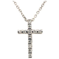 Bar-Set Cross Pendant