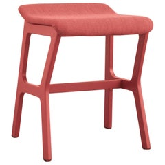 Bar Stoll Nhino in Beechwood Frame and Padded Seat for Bar, Restaurant or Home
