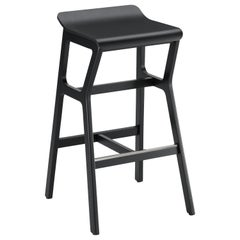 Bar Stoll Nhino in Beechwood Frame and Seat Black for Bar, Restaurant or Home