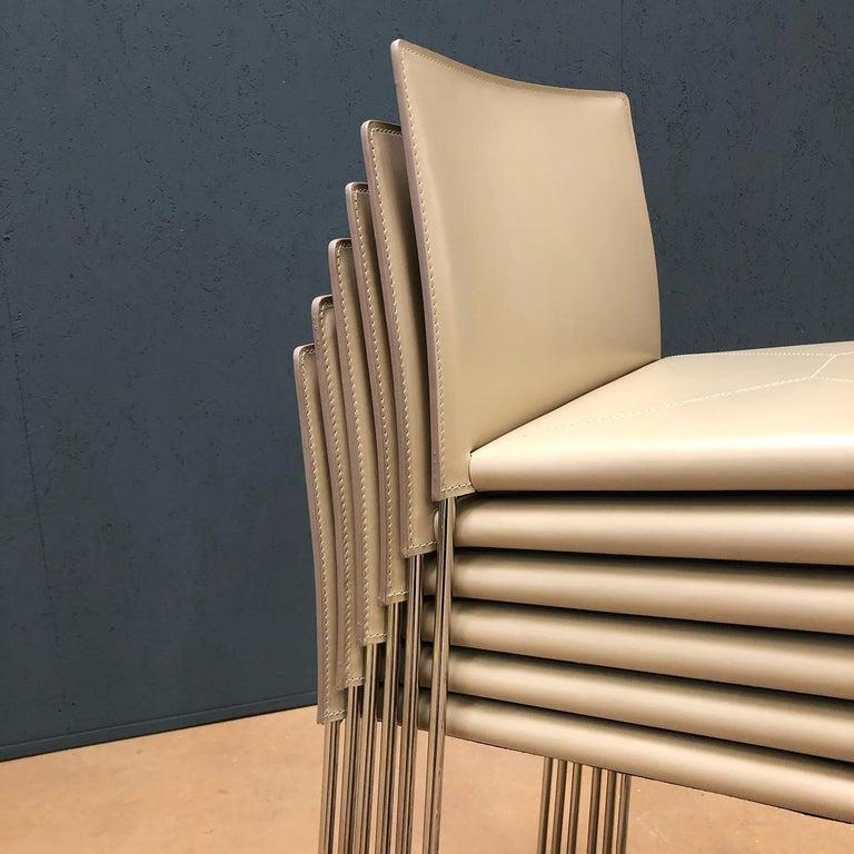 Bar Stool Italian Made Contemporary Design Leather For