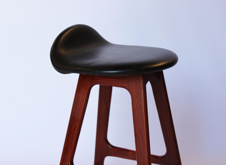 Mid-20th Century Bar Stool, Model OD61, Designed by Erik Buch, 1960s For Sale