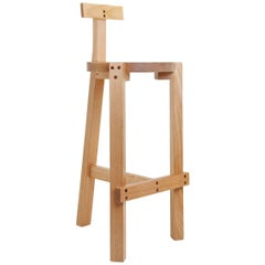 Bar Stool, Modern Brazilian Design, Handmade in Hardwood