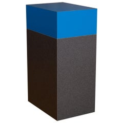 Bar Stool / Tall Table in Electric Blue and Gray Asphalt, Made in Brooklyn