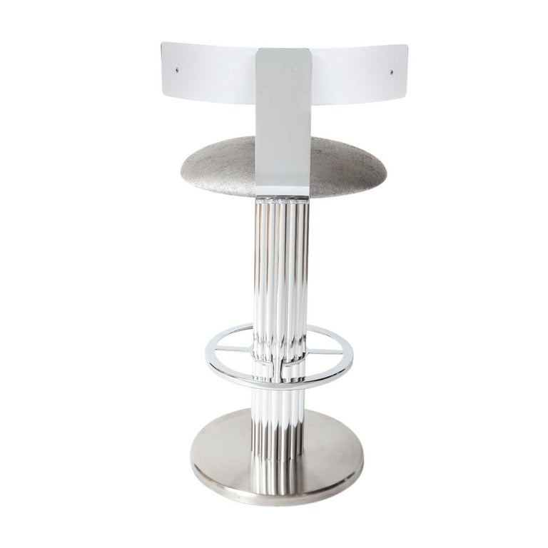 American Bar Stools by Designs for Leisure, Chrome Steel, Swivel For Sale