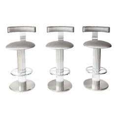 Bar Stools by Designs for Leisure, Chrome Steel Swivel