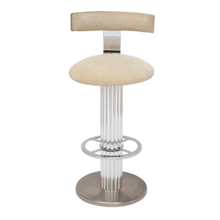 Designs for Leisure Bar Stools, Chrome, Nickeled Steel For Sale 3