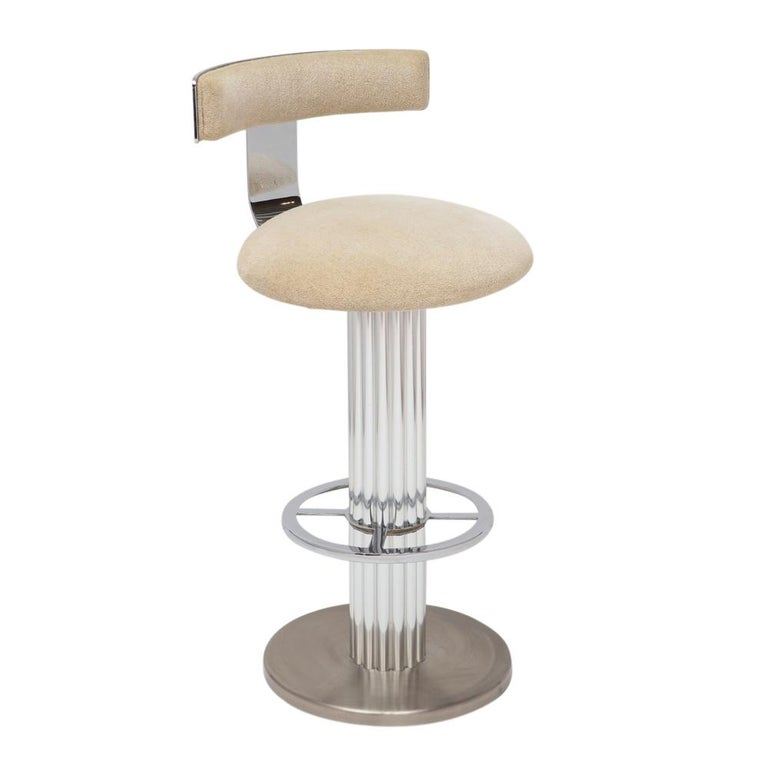 Designs for Leisure Bar Stools, Chrome, Nickeled Steel For Sale 4