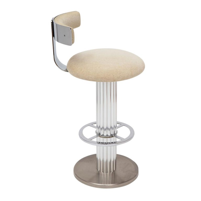 Designs for Leisure Bar Stools, Chrome, Nickeled Steel For Sale 5
