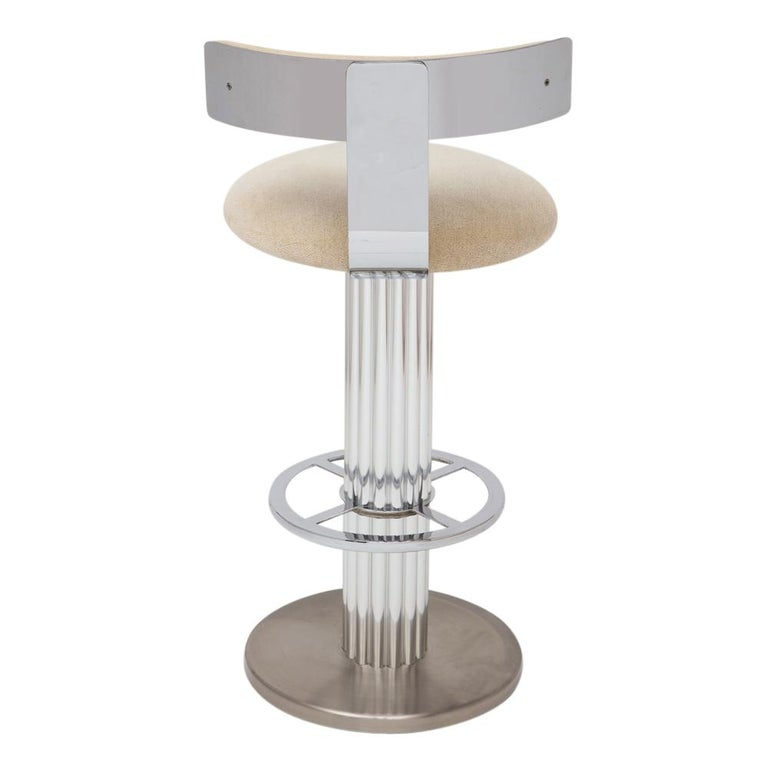 Designs for Leisure Bar Stools, Chrome, Nickeled Steel For Sale 7