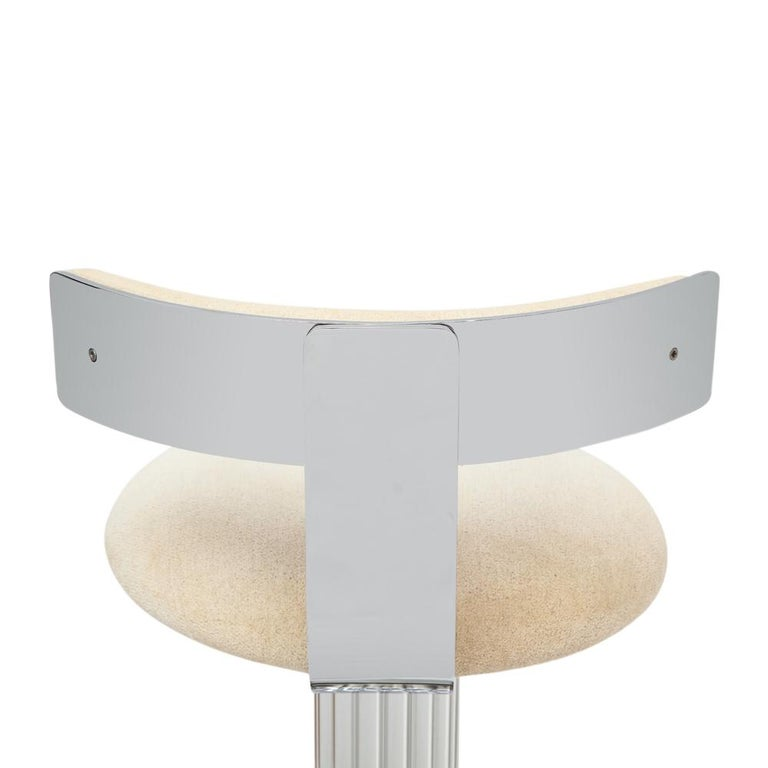 Plated Designs for Leisure Bar Stools, Chrome, Nickeled Steel For Sale