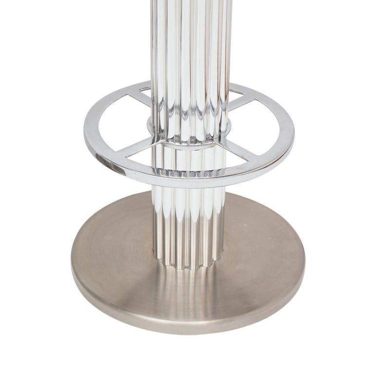 Designs for Leisure Bar Stools, Chrome, Nickeled Steel For Sale 2