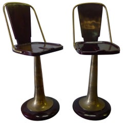 Bar Stools Pair of Swivel Yacht Style