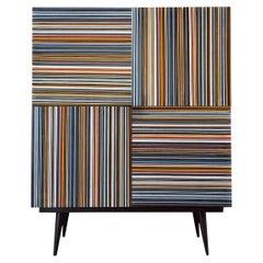 Bar Striped Multi-Color Glass Doors by Orfeo Quagliata