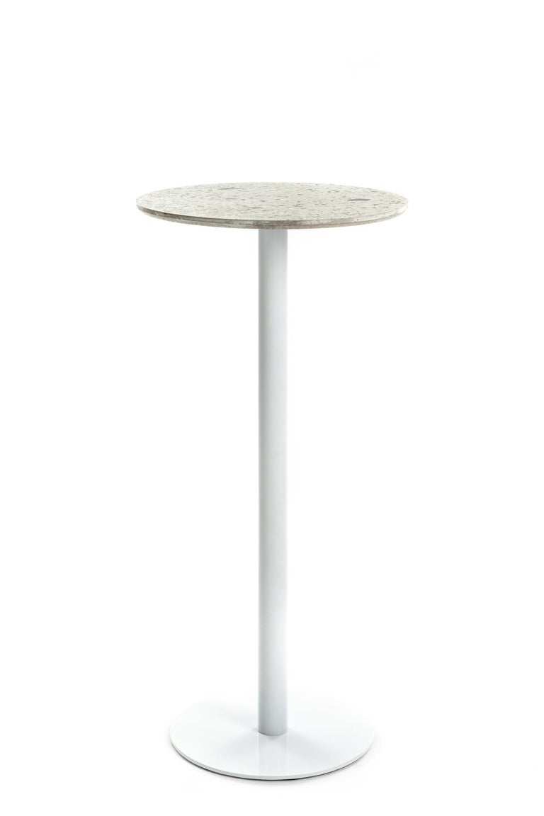 Chinese Bar Table 'I' in Black Terrazzo For Sale