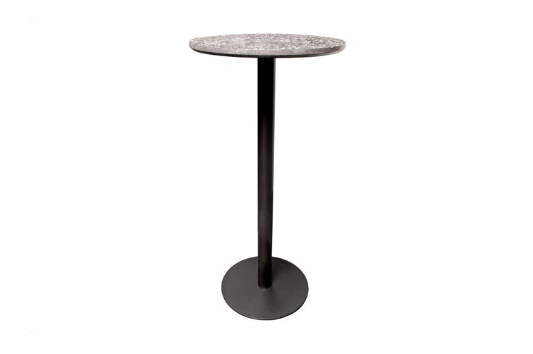 Chinese Bar Table 'I' in White Terrazzo For Sale