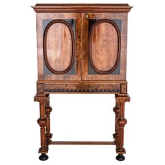 Bar Walnut Empire Style Cabinet from circa 1870