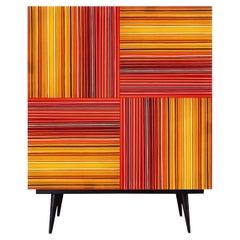 Bar Warm Fire Multicolor Glass Doors by Orfeo Quagliata
