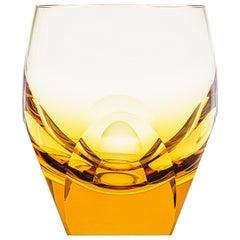 Bar Whisky Tumbler Lead-Free Crystal Amber 'Topaz', 5.74 Oz