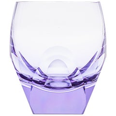 Bar Whisky Tumbler Lead-Free Crystal Purple 'Alexandrite', 5.74 Oz