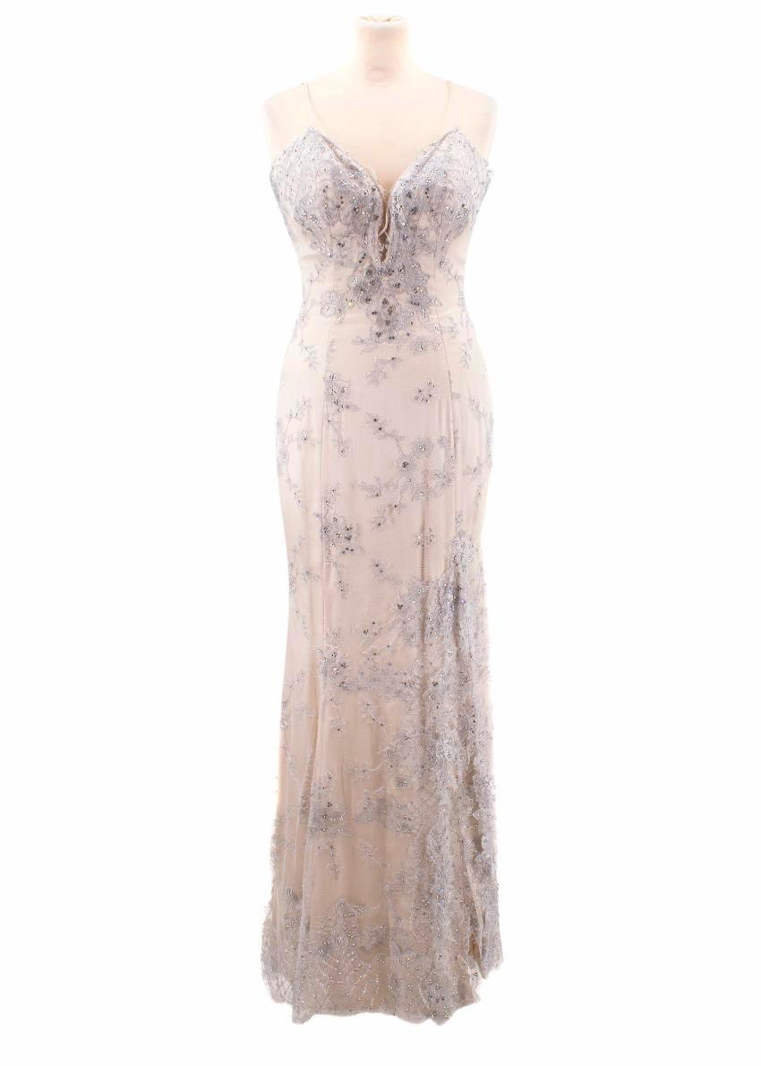 Baracci Haute Couture Lace And Crystals Embellished Gown Size S