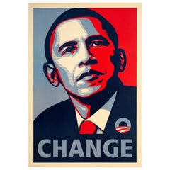 Barack Obama Change 2008 U.S. Mini Poster