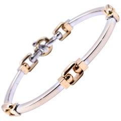 Baraka 18 Karat Two-Tone Bar Bracelet