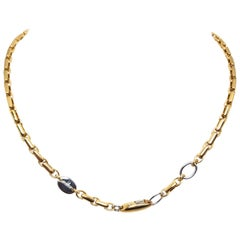 Baraka Yellow White Gold Men's Chain Necklace