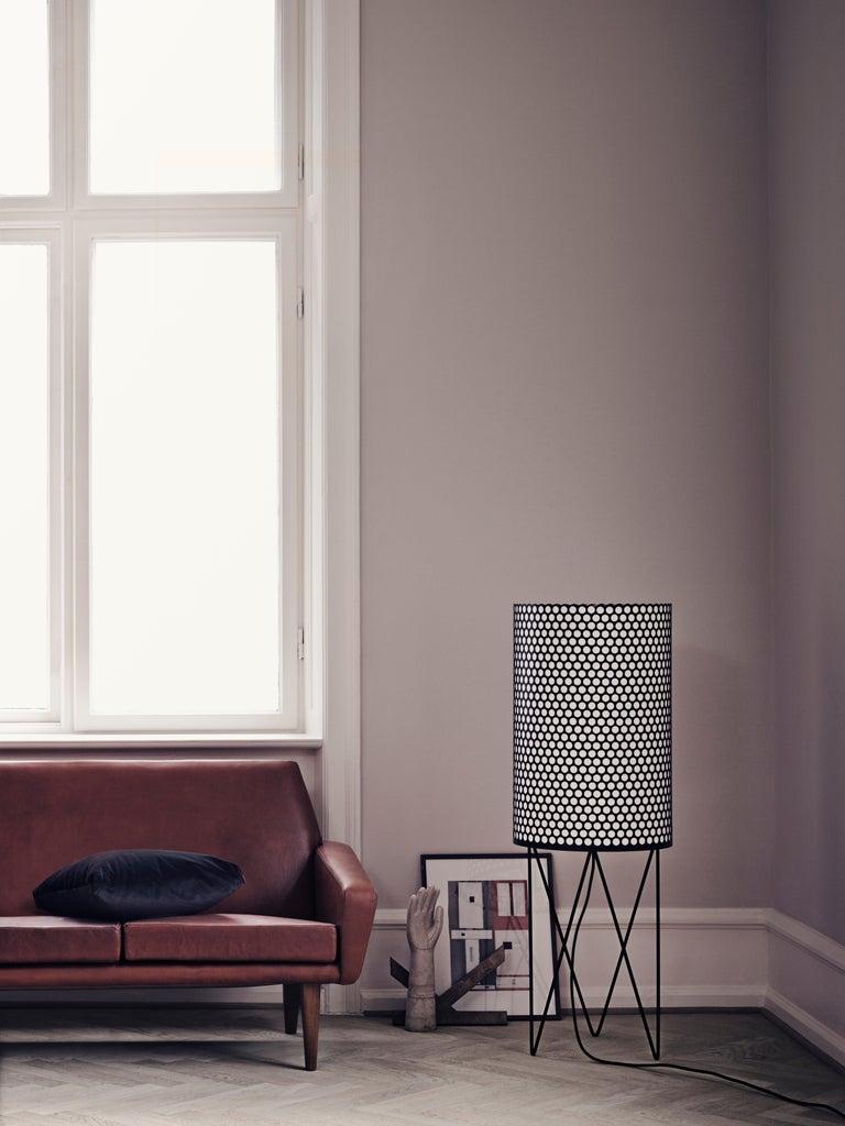 Mid-Century Modern Barba Corsini 'PD2' Pedrera Floor Lamp in White For Sale
