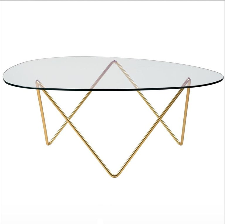 Mid-Century Modern Barba Corsini Pedrera Coffee Table in Brass for Gubi For Sale
