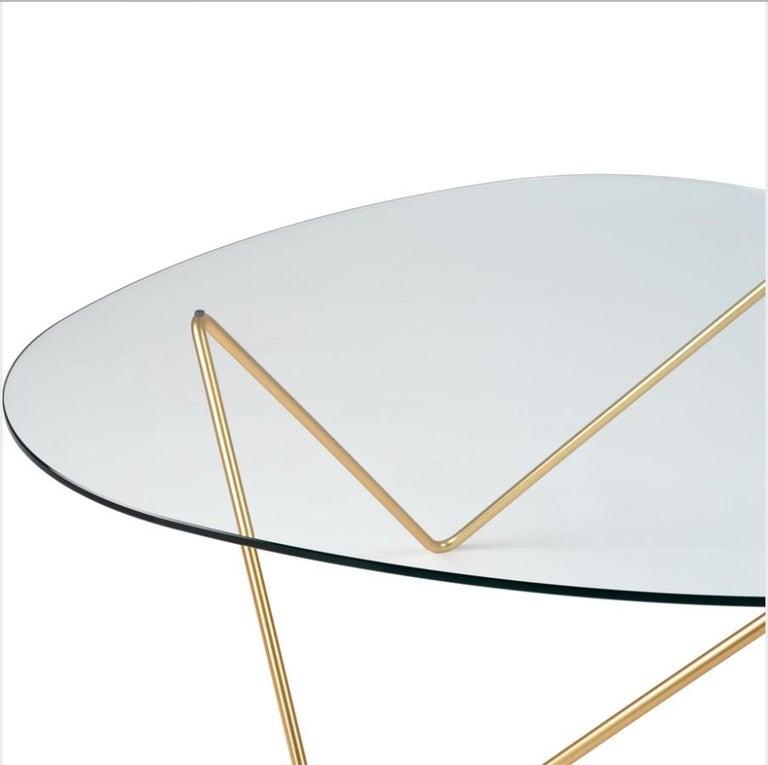 Danish Barba Corsini Pedrera Coffee Table in Brass for Gubi For Sale