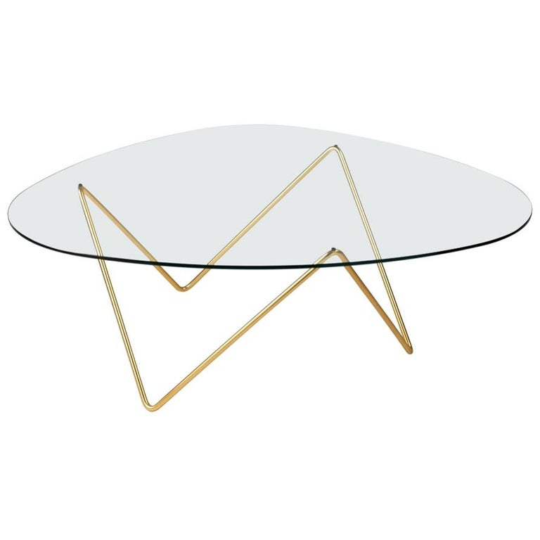 Barba Corsini Pedrera Coffee Table in Brass for Gubi For Sale