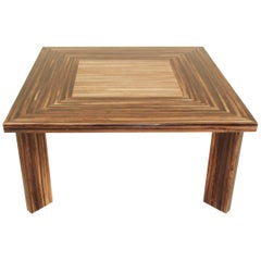 """""""Barbados"""" Square Dining Table in Dark Banana Bark with Honeycomb Finish"""