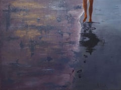 Footprints in the Sand, Painting, Oil on Canvas